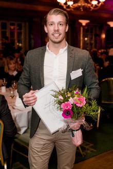 Mattias Matsson, grundaren av Professionals Nord Rekrytering AB, korad till Årets Unga Entreprenör Norr 2017