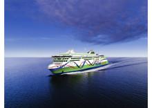 Sketch av Tallink Grupps nya höghastighetsfartyg