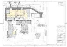 Karta över ny- och ombyggnation på Hagby Skola