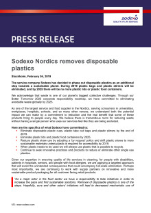 Sodexo Nordics removes disposable plastics