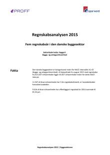 Dansk erhvervsliv - Regnskabsanalysen 2015 - byggesektoren - update september