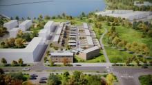 Första spadtaget för Brf Skeppsbyggaren – stadsradhus på Brandholmen