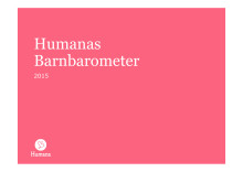 Rapport: Humana Barnbarometer 2015