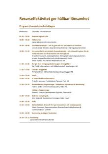 Program för Livsmedelsseminariet 15 januari 2019