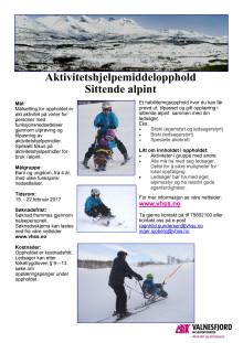 Aktivitetshjelpemidler vinter - alpint
