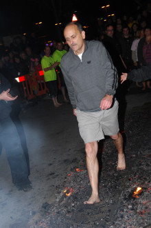Relight my fire - Steve Simmonite is braving the hot coals again for ellenor