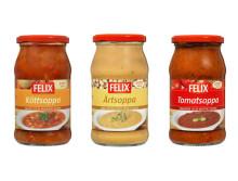 Felix lanserar soppor i ny förpackning - Konsumenterna föredrar glasburk