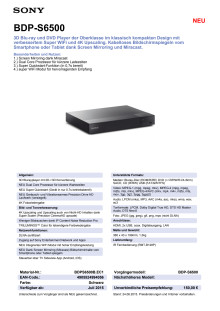 Datenblatt BDP-S6500