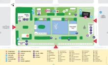 Kart over Pride Park 2016 i Spikersuppa. Gratis inngang. Design: Stiann J. F. Bredesen. www.stiann.no