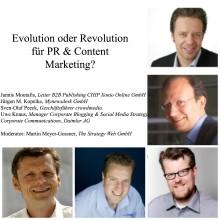 Kommen Sie zu unserem Panel:Evolution oder Revolution für PR & Content Marketing?