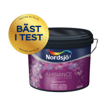"""""""Bäst täckförmåga, jämn, fin gräng och lättast att rengöra"""" – Nordsjö Ambiance bäst i test när SVT Plus testar väggfärg"""
