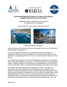 Bootseigentümer Profitieren Von Karpaz Gate Marinas  Einzigartigem Status Als Yachthafen
