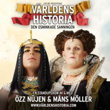 """Özz Nûjen & Måns Möller tar Sveriges roligaste historielektion """"Världens Historia"""" till Draken i Göteborg!"""