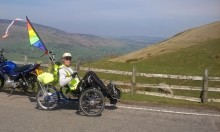 ​Local stroke survivor takes on 130 mile cycling challenge to Make May Purple for charity