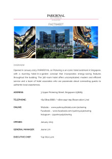 PARKROYAL on Pickering, Singapore - Factsheet
