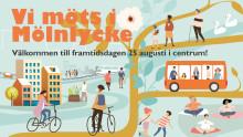 Självkörande bussen besöker framtidsdag i Mölnlycke