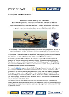 Experience Award-Winning VETUS Maxwell BOW PRO Proportional Thrusters on the Water at Miami Boat Show