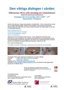 Program Temadag Vårdrelationer
