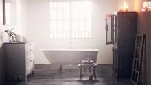 Fra badeværelse til stue