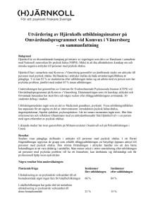 Utvärdering av utbildningsinsatser på Omvårdnadsprogrammet vid Komvux i Vänersborg