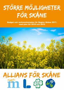 Allians för Skånes budget för Region Skåne 2017