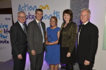 Local stroke survivor wins Volunteer of the Year at Northern Ireland Life After Stroke Awards