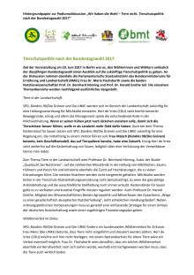 Podiumsdiskussion Tierschutzpolitik nach der Bundestagswahl 2017: Die Meinungen im Detail