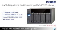 Nyhet: Fyrkärnigt NAS-kabinett med 8 fack och 2 SFP+-portar!