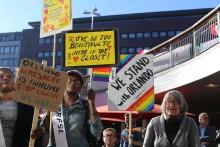 Manifestation i solidaritet med Orlando