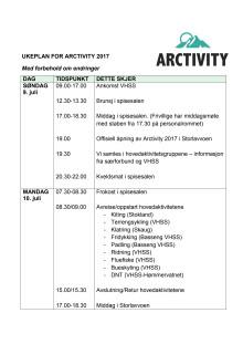 Program Arctivity