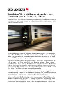 """""""Det är ohållbart att våra medarbetares arbetstid och fritid begränsas av tågproblem."""""""