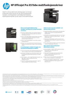 Dataark HP Officejet Pro X576dw MFP
