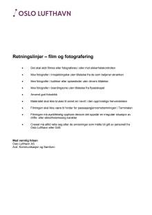 Historiske retningslinjer - filming og fotografering
