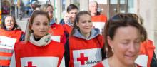 Röda Korset på plats vid kärleksmanifestationen