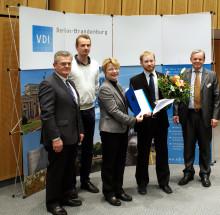 """3. Platz beim VDI-Wettbewerb """"Mensch und Technik 2014"""" an Maschinenbau-Masterabsolventen"""