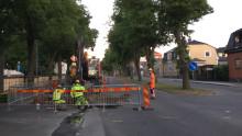 Vattenledning lagad och Erik Dahlbergsvägen öppnad för trafik