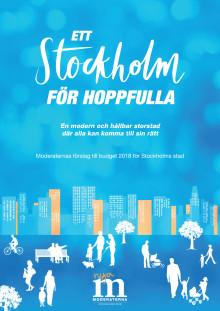 Moderaternas budget 2018 Stockholm stad