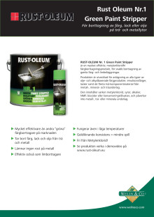 Rust-Oleum Nr.1 Green Paint Stripper produktblad