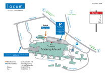 """Karta - utställningslokalen för """"Tävling för tillbyggnad vid Södersjukhuset"""""""