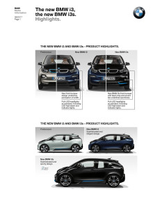The new BMW i3 and BMW i3s - Highlights