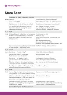 Nationella e-hälsodagen, program stora scenen