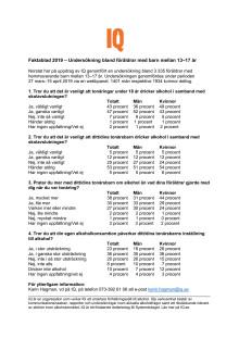 Faktablad 2019 - Skolavslutning, ungdomar och alkohol