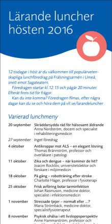 Lärande luncher i Umeå hösten 2016