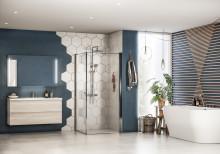 Tidsriktig design og farger på baderomsmøbler
