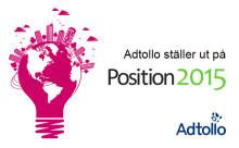Adtollo ställer ut på Position 2015