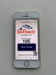 Nu kan kunden ta kölapp i sin smartphone på vägen till Lisa Elmqvist.