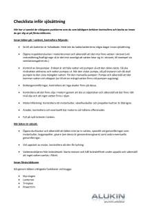 Checklista inför sjösättning