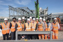 Wolverhampton's new railway station phase one steel frame close to completion