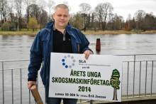 Erik Jonsson är vinnare av Årets unge skogsmaskinföretagare