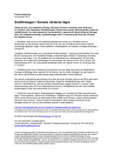 Värdebarometern 2015 Sorseles kommun